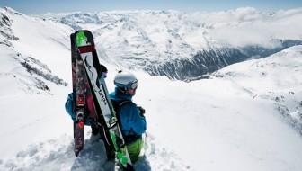 Stubaital, wintersport op een gletscher
