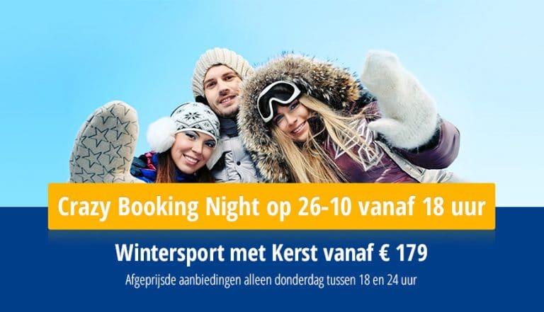 Crazy Booking Night Wintersport met kerst