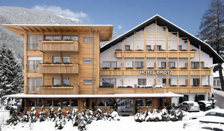 Romantische wintersport in de Dolomieten: Hotel Brotz